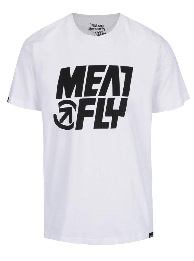 Bílé pánské triko s potiskem MEATFLY Shaper