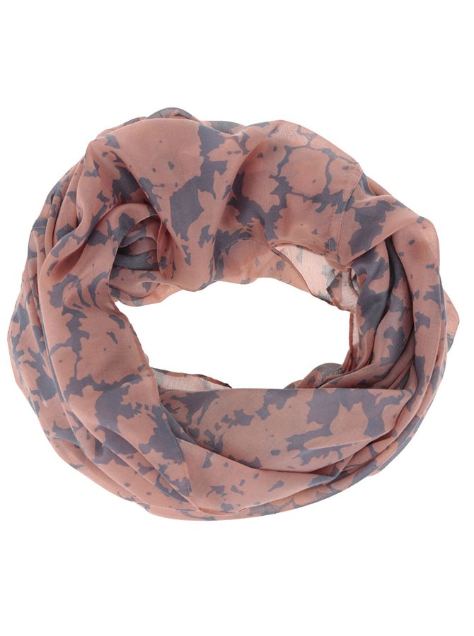 Šedo-oranžový dutý šátek Pieces Kellea