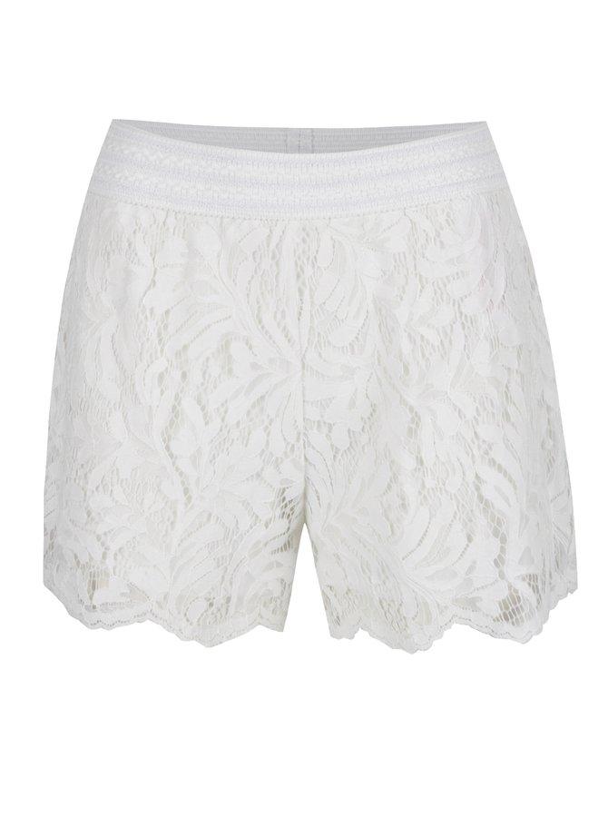 Pantaloni scurți crem VILA Lima din dantelă