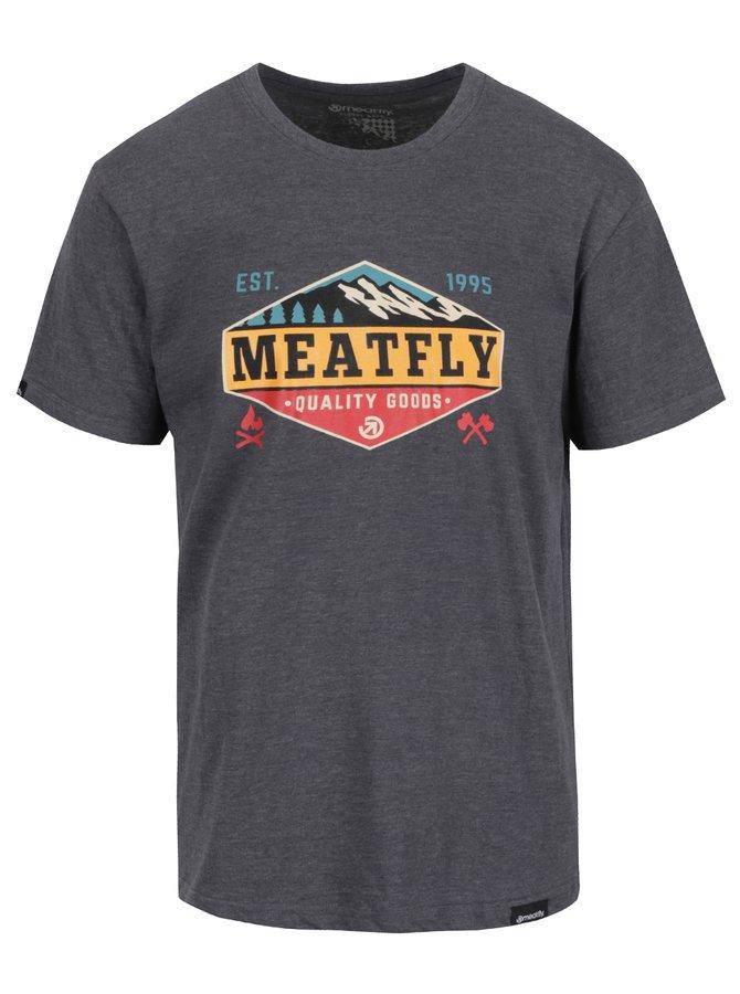 Tricou gri cu print MEATFLY Bugler pentru bărbați