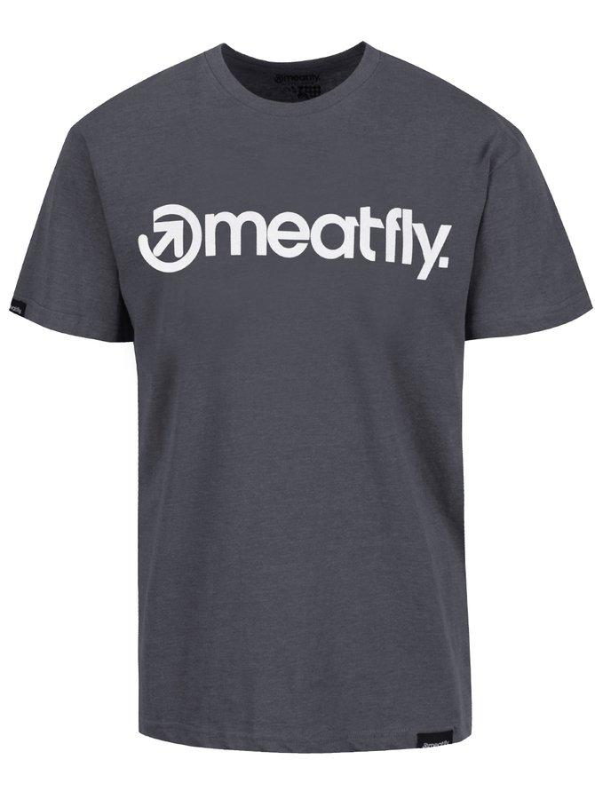 Tricou gri MEATFLY Logo pentru bărbați