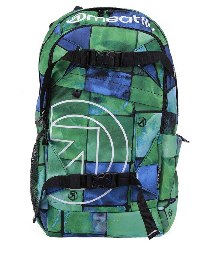 Modro-zelený unisex batoh Meatfly Basejumper 20 l