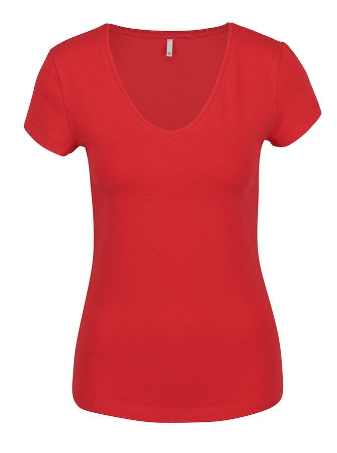 Červené tričko s krátkým rukávem ONLY Live Love