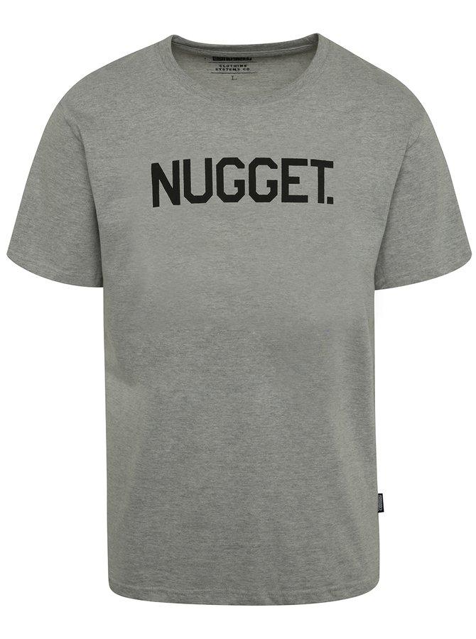 Tricou gri cu print NUGGET Logo pentru bărbați