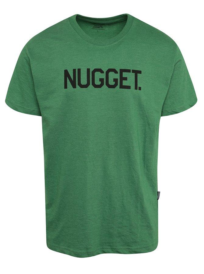 Tricou verde cu print NUGGET Logo pentru bărbați