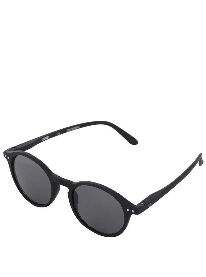 Černé unisex sluneční brýle s černými skly IZIPIZI