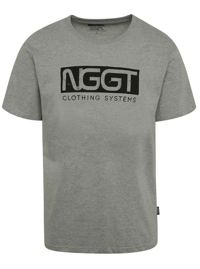 Tricou gri cu print NUGGET Class pentru bărbați