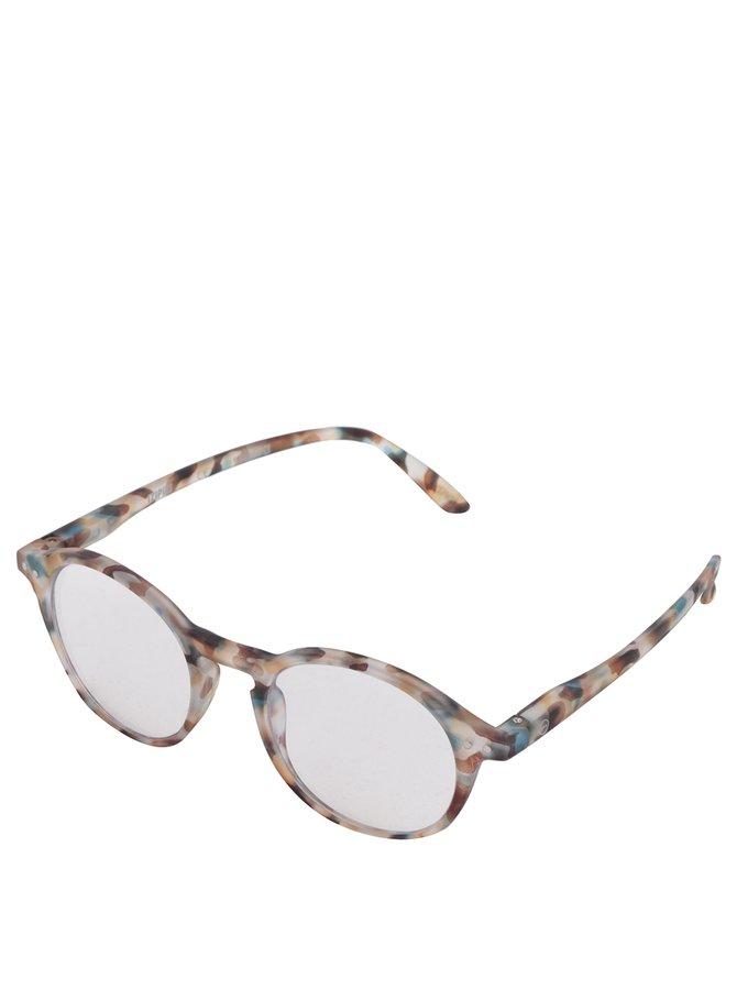 Hnědo-modré vzorované unisex ochranné brýle k PC IZIPIZI #D