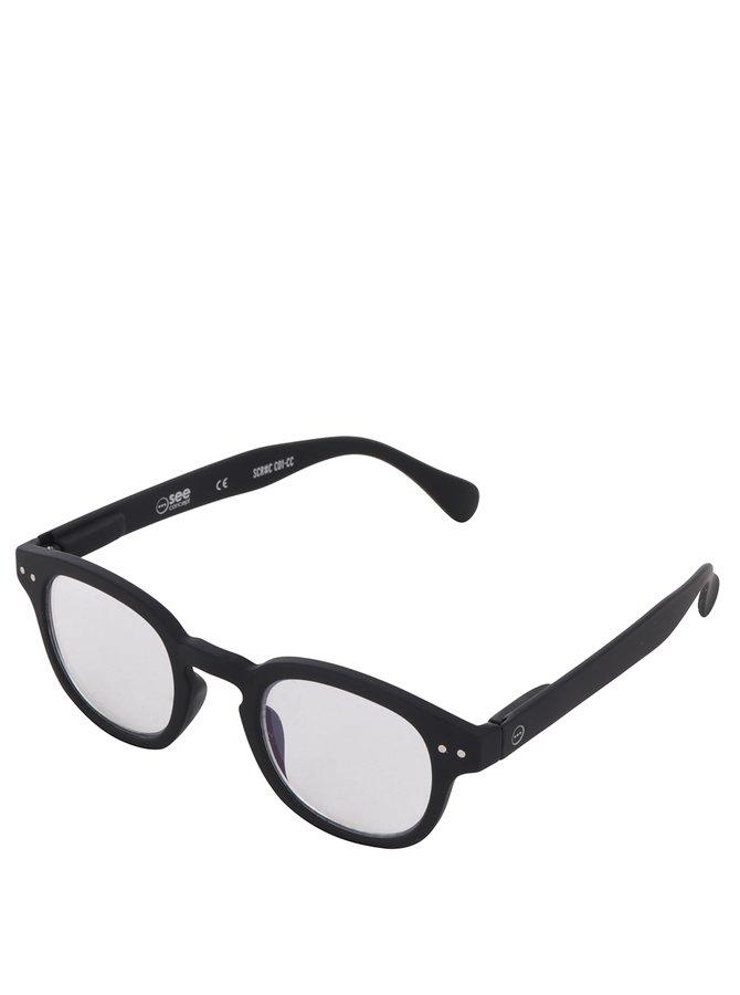 Černé unisex ochranné brýle k PC IZIPIZI