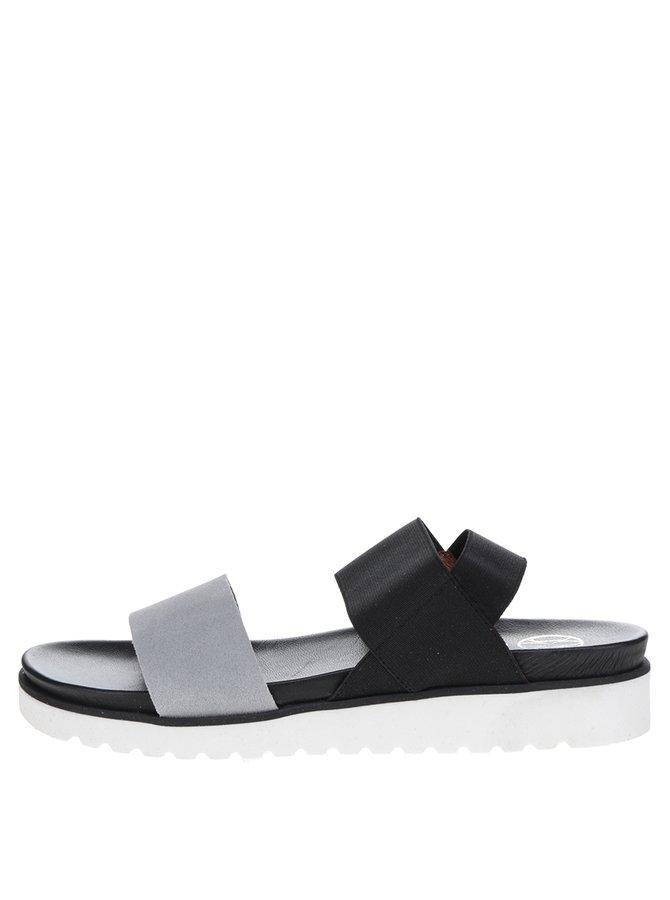 Šedo-černé dámské sandály OJJU