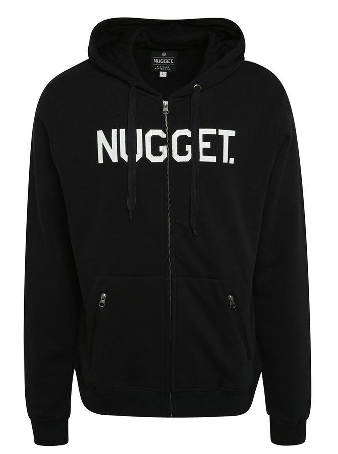 Černá pánská mikina s kapucí a potiskem NUGGET Typer