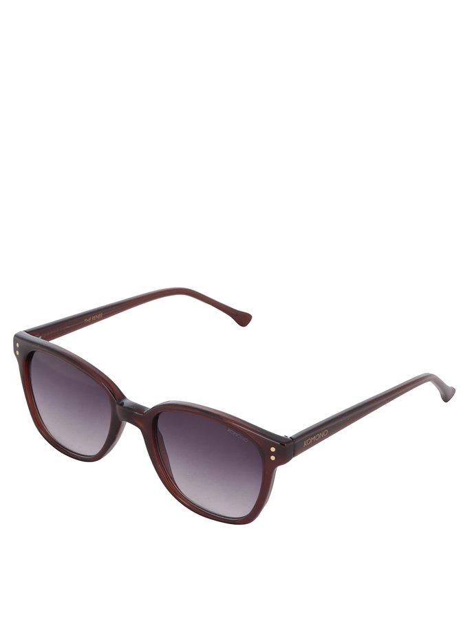 Hnědé sluneční dámské brýle Komono Renee