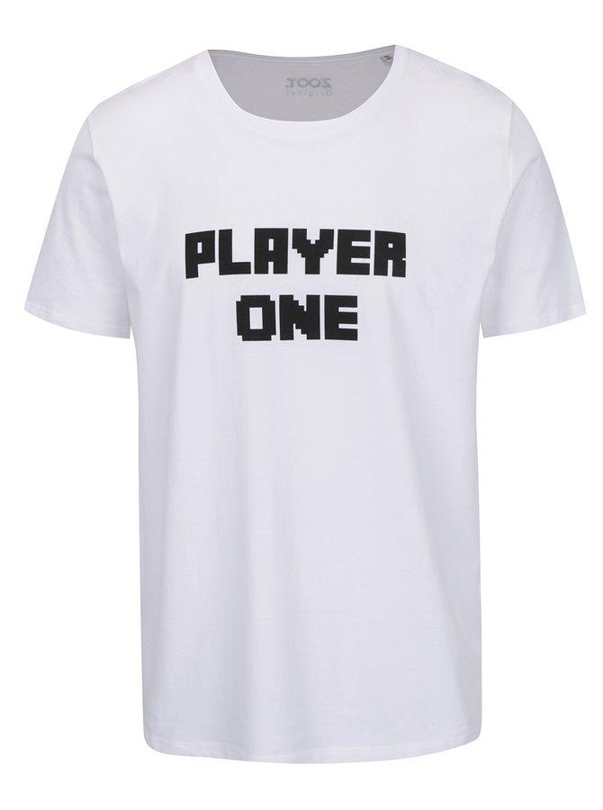 Tricou alb pentru bărbați ZOOT Originál Player one cu print