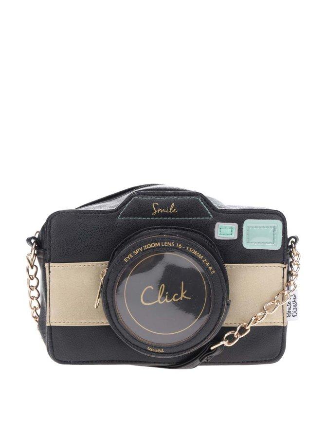 Černá crossbody kabelka ve tvaru fotoaparátu Disaster