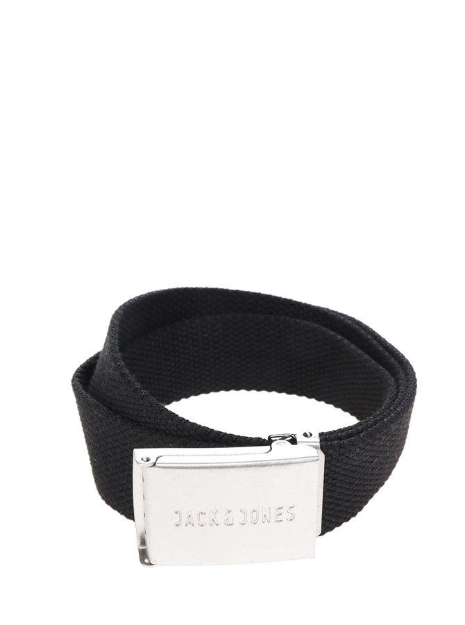 Černý pásek s kovovou přezkou Jack & Jones Solid