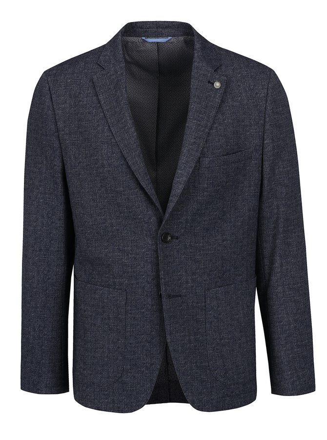 Tmavě modré žíhané sako Burton Menswear London