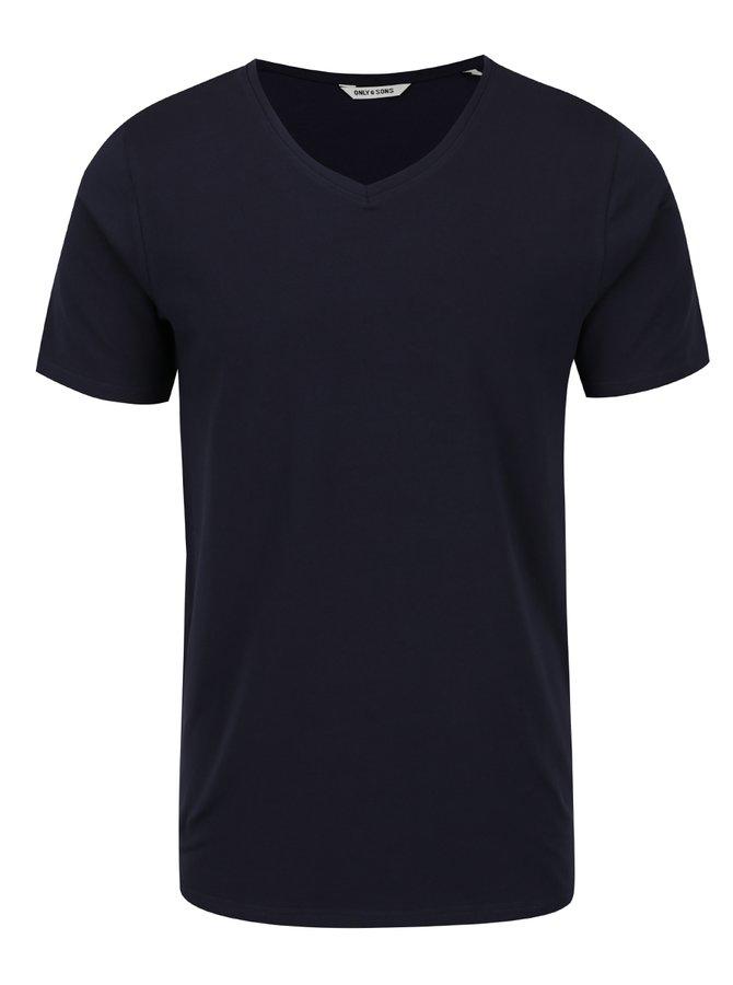 Tmavě modré basic triko ONLY & SONS Basic