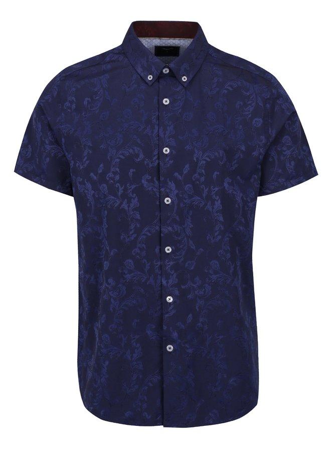 Modrá vzorovaná košile Burton Menswear London