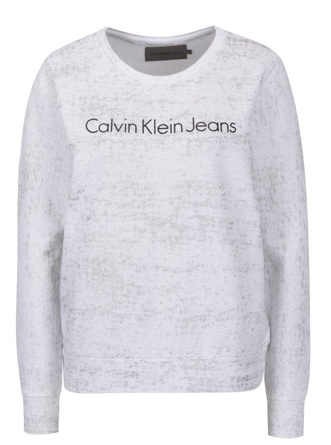 Dámská mikina v bílé a stříbrné barvě Calvin Klein Jeans Harley