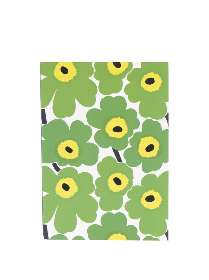 Zelený květovaný zápisník Chronicle Marimekko