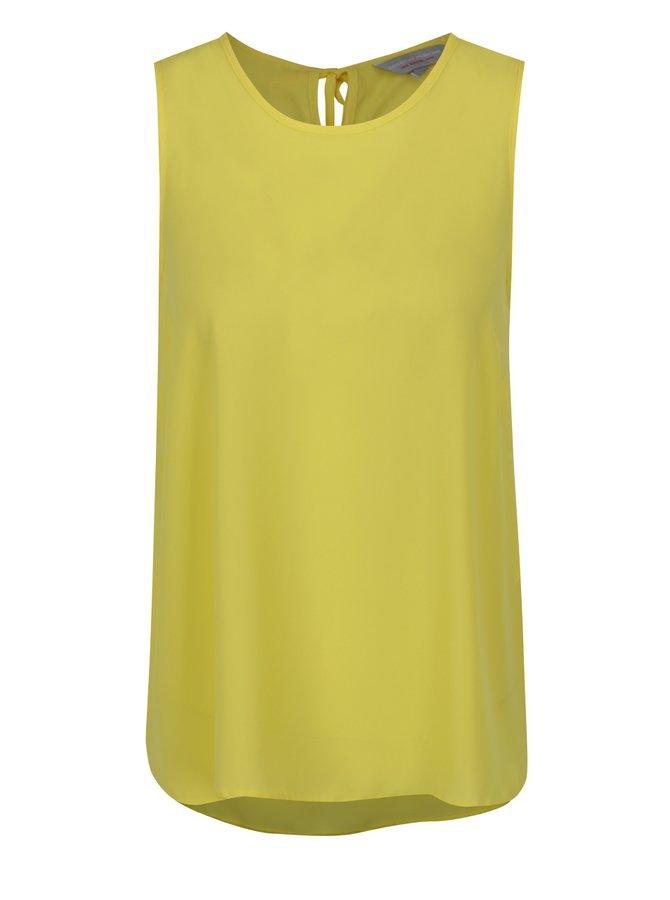 Žlutá volná halenka bez rukávů Dorothy Perkins Petite
