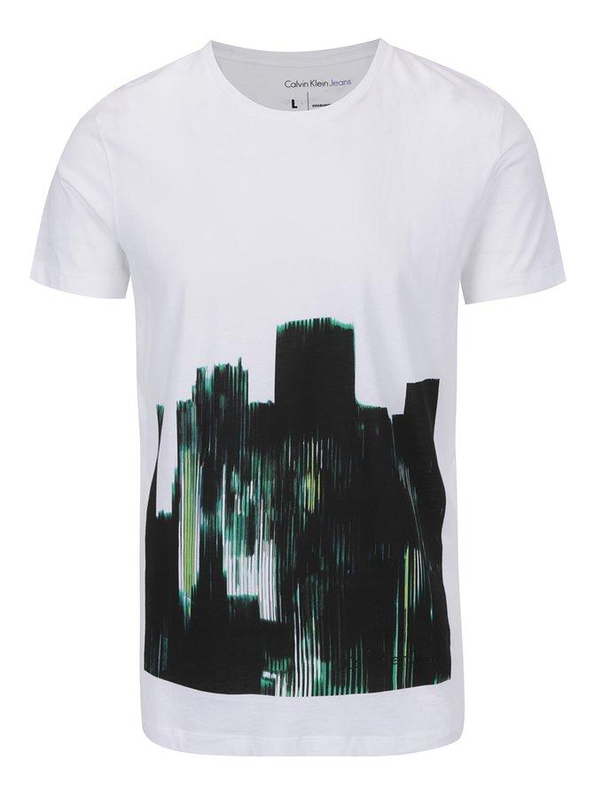 Bílé pánské triko s potiskem Calvin Klein Tido