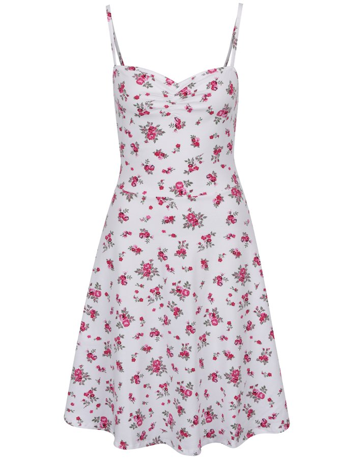 Bílé květované šaty na ramínka Dorothy Perkins Tall
