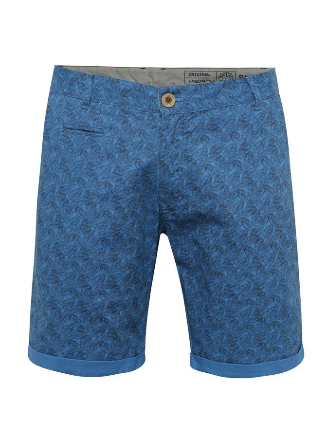 Pantaloni scurți albaștri Blend cu imprimeu floral