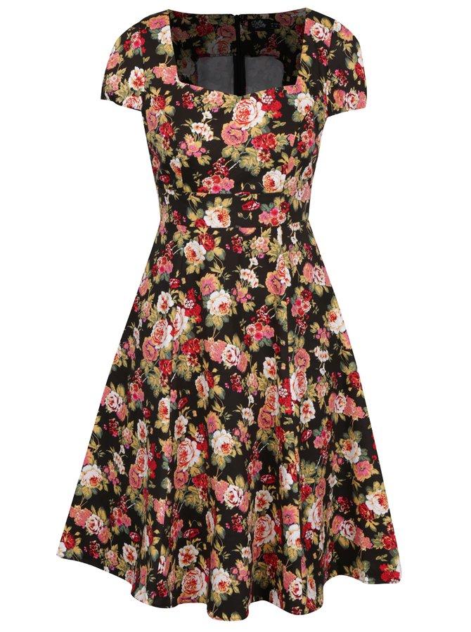 Černé květované šaty Dolly & Dotty Claudia