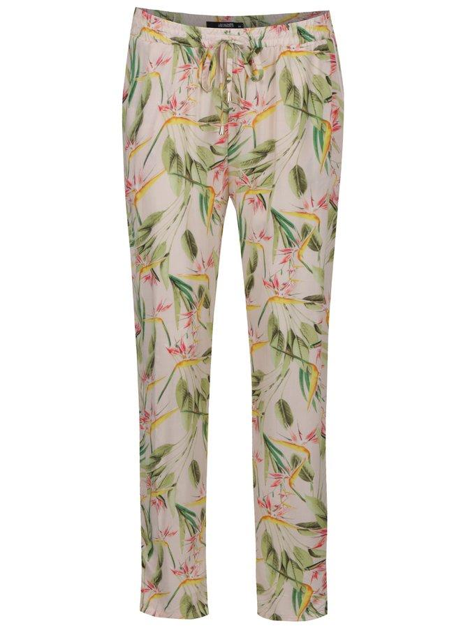 Světle růžové květované kalhoty Haily´s Ricky