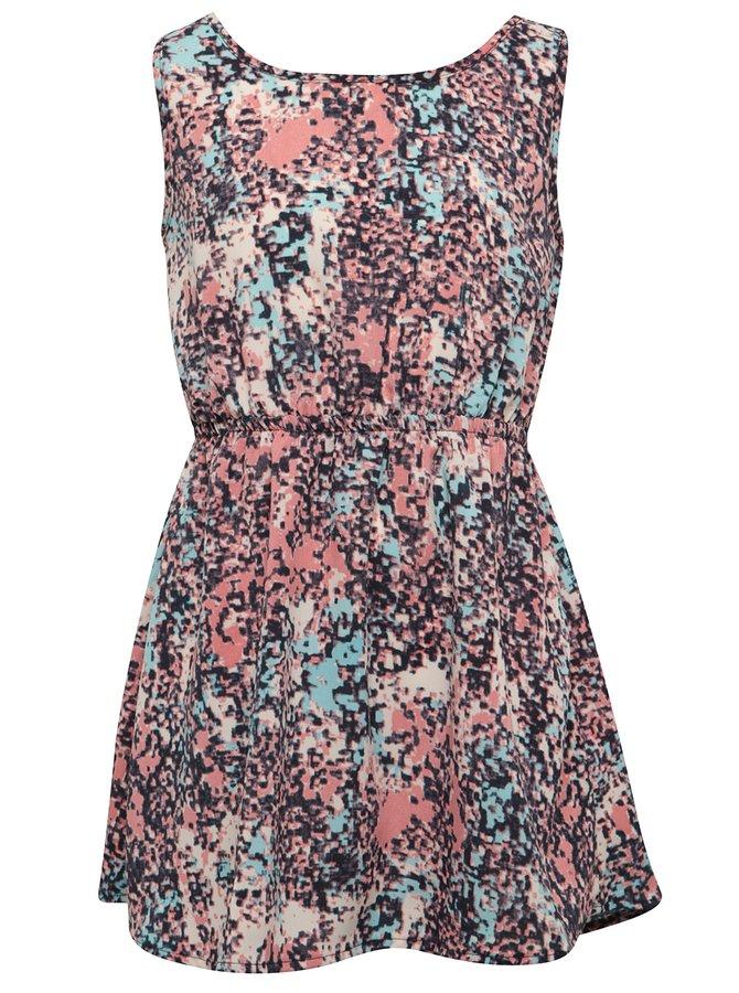 Růžovo-modré holčičí vzorované šaty name it Diluna