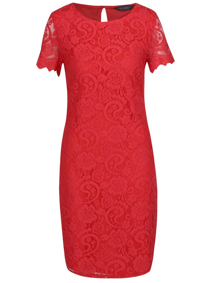 Červené krajkované šaty Dorothy Perkins Tall