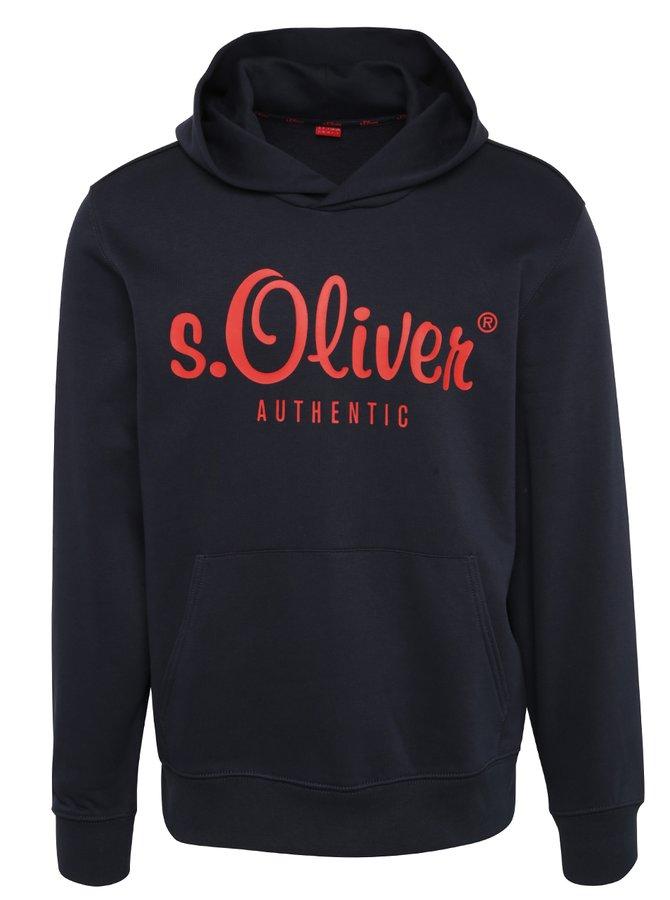 Hanorac negru cu print roșu  s.Oliver