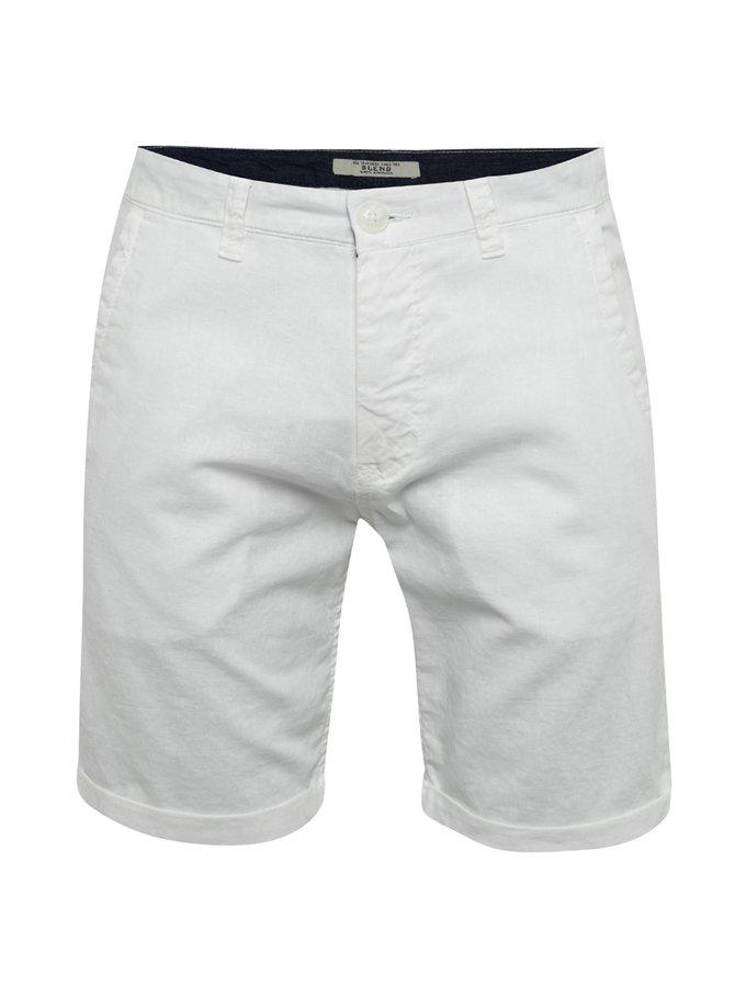 Pantaloni scurți albi Blend cu buzunare oblice