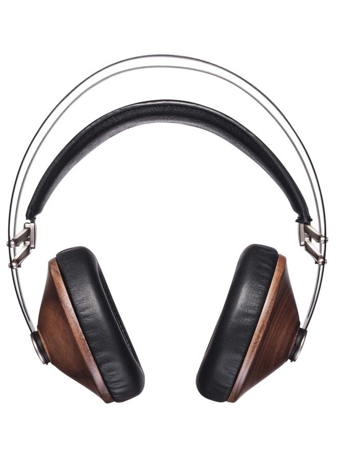 Hnědo-černá sluchátka s detaily ve stříbrné barvě Meze Audio Classics