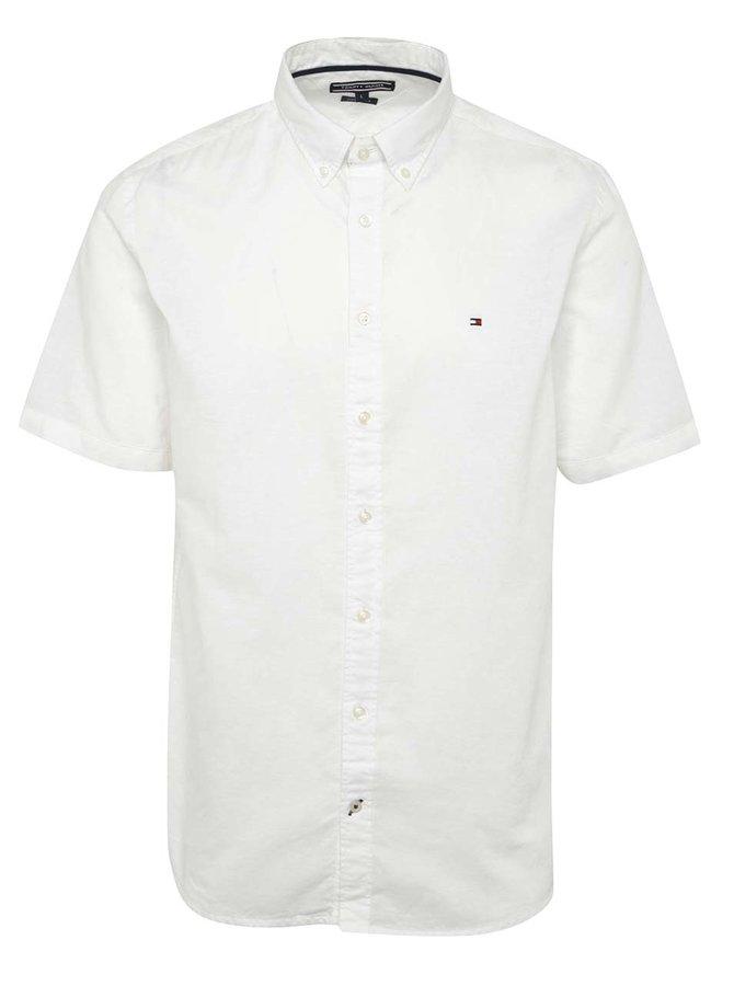 Krémová pánská košile s příměsí lnu Tommy Hilfiger