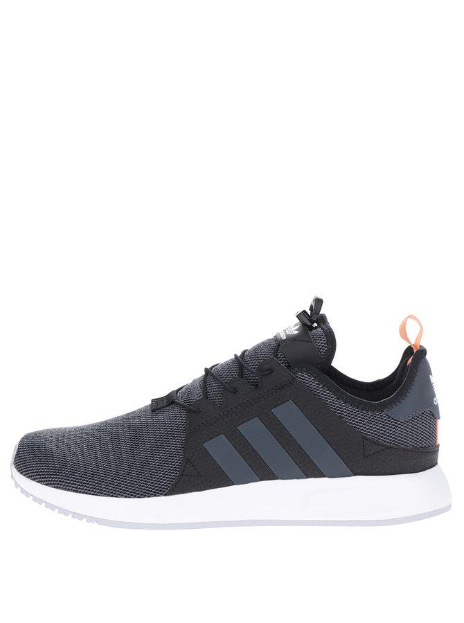 Šedo-černé pánské tenisky adidas Originals X_PLR