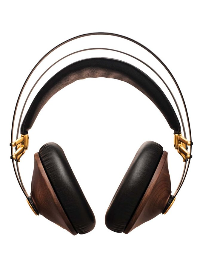 Hnědo-černá sluchátka s detaily ve zlaté barvě Meze Audio Classics
