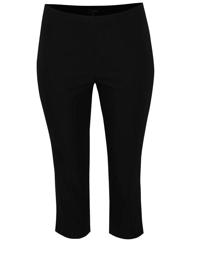 Černé zkrácené kalhoty s elastickým pasem Ulla Popken