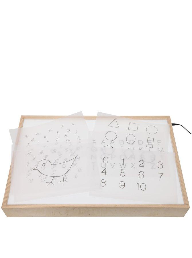 Hnědo-bílý svítící box s šablonami MORMI