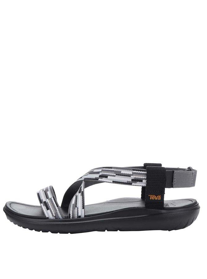 Černo-šedé vzorované dámské sandály Teva
