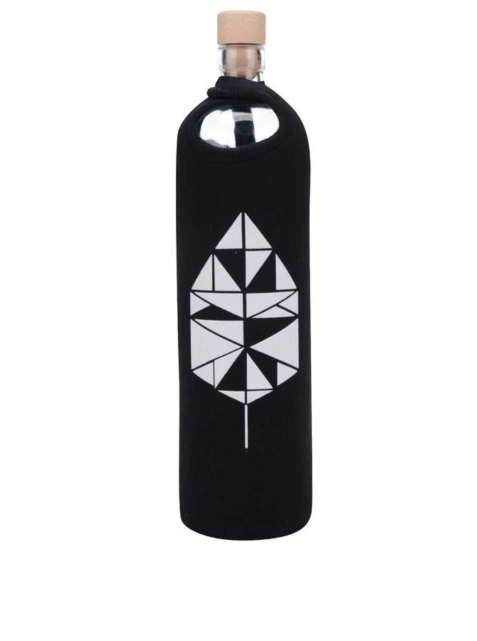 Skleněná láhev v černém neoprenovém obalu Flaška 0,75 l