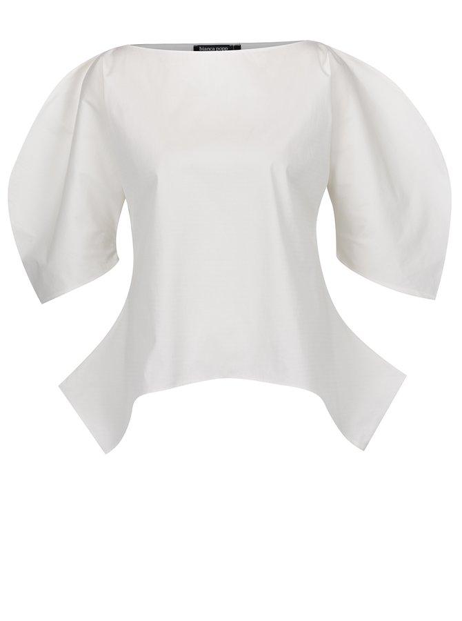 Bluză albă Bianca Popp cu mâneci tip balon
