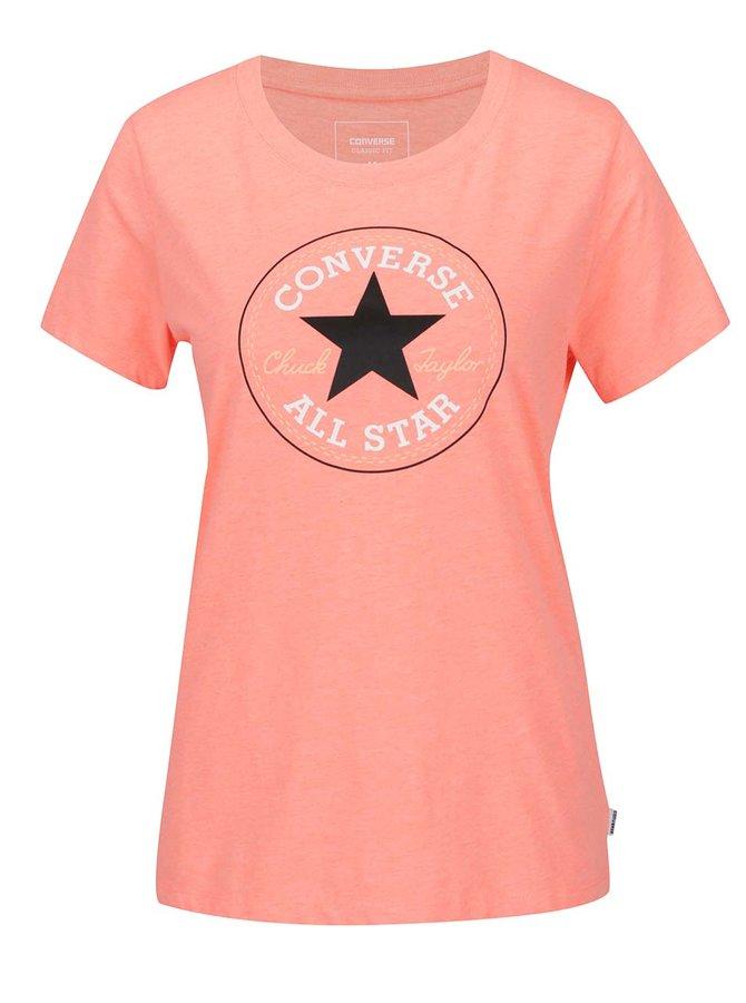 Oranžové dámské tričko s potiskem Converse
