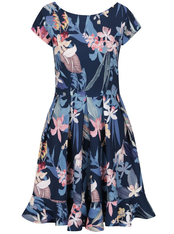 Rochie albastru închis Closet cu imprimeu floral