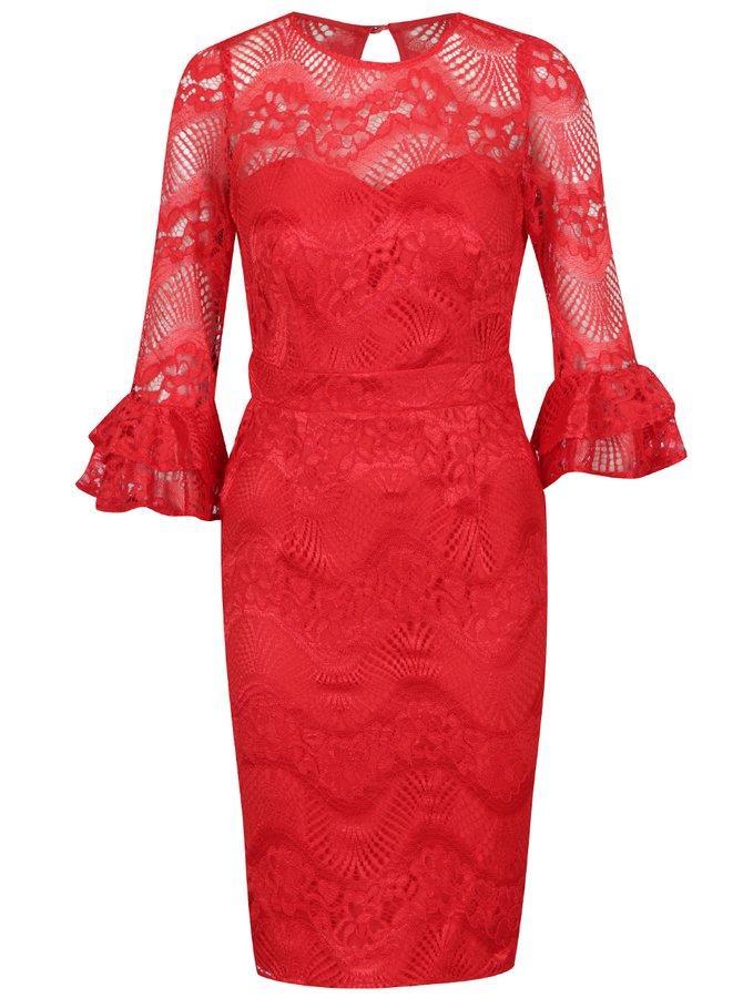 Rochie roșie Miss Mistress din dantelă