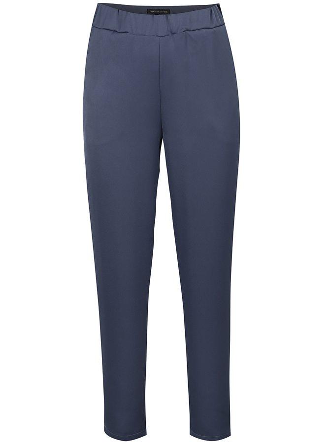Pantaloni albaștri THAIS & STROE cu buzunare oblice
