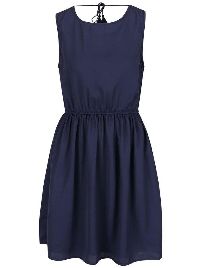 Tmavě modré šaty s odhalenými zády VILA Pana