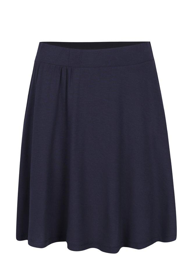 Tmavě modrá sukně s pružným pasem VILA Foma