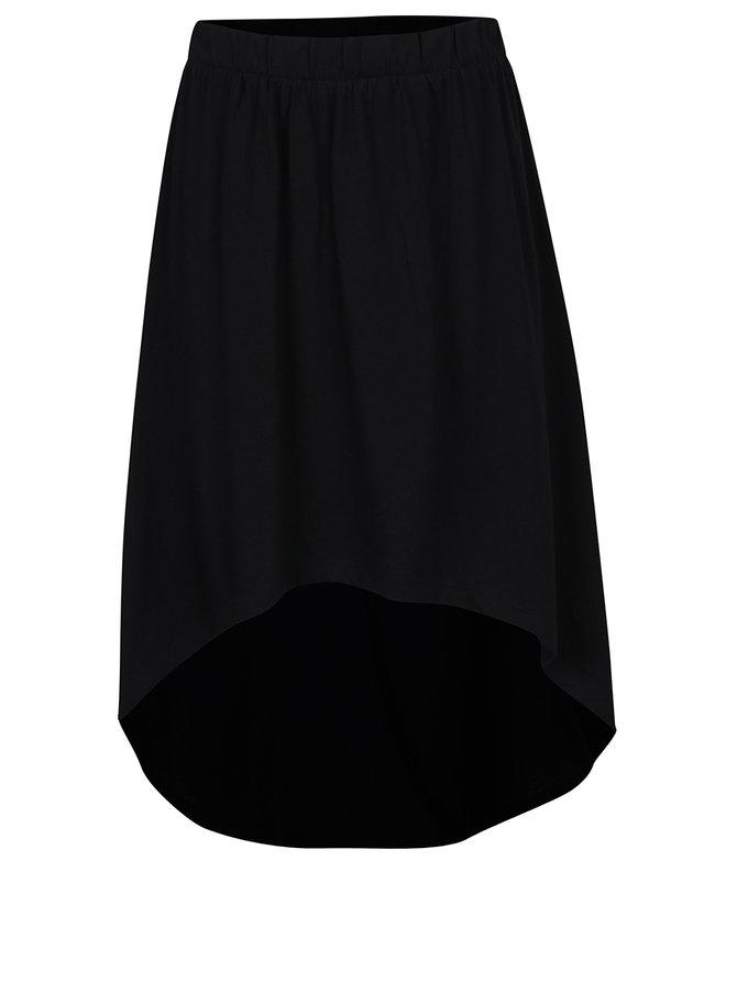 Černá sukně s prodlouženým zadním dílem Noisy May Julian